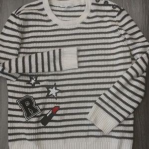 Rebecca Minkoff striped sweater size L